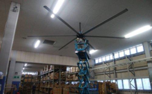 岡山県倉敷市にて新型スマイルファン7.3m 2基納品いたしました。